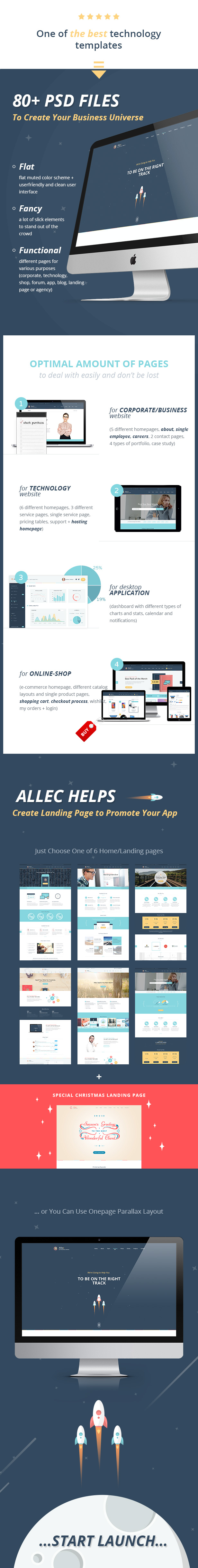 Allec - Business & Technology PSD Template